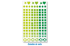 1 set de 147 stickers mosaïques verts - Stickers divers 11551 - 10doigts.fr