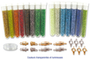 Set de 15 tubes de perles de rocailles couleurs transparentes et lumineuses assorties - Perles de rocaille 12750 - 10doigts.fr