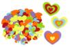 Stickers en feutrine coeurs - 150 formes - Formes en Feutrine Autocollante - 10doigts.fr