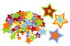 Set de 150 stickers étoiles en feutrine - Stickers en feutrine 34118 - 10doigts.fr