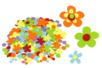 Set de 150 stickers fleurs en feutrine - Stickers en feutrine 34122 - 10doigts.fr