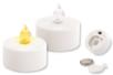 Set de 2 bougies électriques blanches à effet scintillant - Cires, gel  et bougies - 10doigts.fr