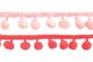 Galons à pompons - Camaïeu de roses - 2 galons - Rubans et cordons 36235 - 10doigts.fr