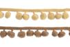 Galons à pompons - Camaïeu de beiges - 2 galons - Rubans et cordons 36236 - 10doigts.fr