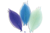 Set de 20 feuilles de 6 cm, en camaïeu bleu - Fleurs et feuilles 13404 - 10doigts.fr