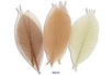 Set de 20 feuilles de 6 cm, en camaïeu naturel - Fleurs et feuilles 13401 - 10doigts.fr