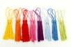 Long pompons colorés (3 x 8 couleurs) - 24 pompons - Pompons, Plumes, Strass - 10doigts.fr