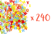 240 lettres en feutrine -3 sets de 80 - Stickers en feutrine 13997 - 10doigts.fr