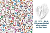 250 perles alphabet rondes, avec lettres couleurs assorties, sur fond blanc + 5 mètres de fil élastique - Perles Alphabet - 10doigts.fr