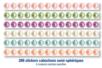 Bande de cabochons nacrés adhésifs - 288 strass - Stickers strass, cabochons - 10doigts.fr