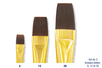 Brosses plates à poils synthétiques - Set de  3 pinceaux  N° 6, 12 et 20  - Pinceaux poils synthétiques - 10doigts.fr