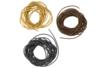 Cordons en cuir - ø 1 mm : noir, brun clair, brun foncé -Set de 3 - Cuir, suédine 08206 - 10doigts.fr