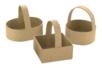 Paniers en carton papier mâché - 3 formes assorties (carré + rond + ovale)  - Noël, Pâques, carnaval 12034 - 10doigts.fr