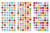 Set de 300 boutons adhésifs formes assorties : ronds, étoiles, fleurs - Boutons - 10doigts.fr