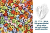 Perles lettres noires sur fond couleurs pastels - Set de  300 perles - Perles Alphabet 07516 - 10doigts.fr