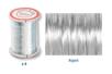 Fil métallique argent ø 0,4 mm - Lot de 4 - Fils aluminium 14754 - 10doigts.fr