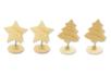 Clips mémo Etoile et sapin ( 2 de chaque) - Set de 4 - Divers 37405 - 10doigts.fr