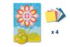 Tableau en mosaïques fleur - Lot de 4 - Kits créatifs prêt à l'emploi 19345 - 10doigts.fr