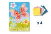 Tableau en mosaïques Papillon - Lot de 4 - Kits créatifs prêt à l'emploi 19347 - 10doigts.fr