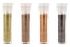 Set de 4 tubes de paillettes : or, bronze, cuivre et noir - Paillettes à saupoudrer - 10doigts.fr
