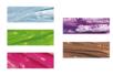 Raphia synthétique, couleurs assorties - Set de 5 bobines (bleu clair, vert clair, rose, violet, marron) - Paille et Raphia 06556 - 10doigts.fr