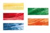 Raphia synthétique, couleurs assorties - Set de 5 bobines (jaune, rouge, bleu, vert, orange) - Paille et Raphia 06555 - 10doigts.fr