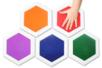Set de 5 encreurs géants - couleurs assorties - Encreurs - 10doigts.fr