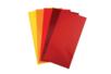 Papiers camaïeu rouge pour supports lisses  - 5 feuilles - Papiers Imprimés 16462 - 10doigts.fr