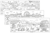 PROMO : fresques géantes à colorier - 5 fresques (mer, savane, forêt, ville, ferme) - Support pré-dessiné 38005 - 10doigts.fr