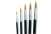 5 pinceaux poils de poney assortis N° 6, 10, 14, 16, 20 - Pinceaux 02379 - 10doigts.fr
