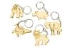 Set de 5 porte-clés en bois - animaux africains - Porte-clefs 34134 - 10doigts.fr