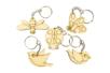 Set de 5 porte-clés en bois - animaux volants - Porte-clefs 34132 - 10doigts.fr