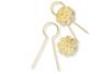 Attaches dorées à piquer 3 cm + 50 chapeaux - Lot de 50 - Sujets en polystyrène 12965 - 10doigts.fr