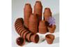 Pots en terre cuite - Ø 3,5 cm x H 3 cm - 50 pcs - Céramique et Porcelaine 06989 - 10doigts.fr