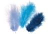 Plumes en camaïeu de Bleus - Environ 50 pces - Plumes 10445 - 10doigts.fr