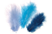 Plumes en camaïeu bleu - Set d'environ 50 plumes - Plumes 10445 - 10doigts.fr