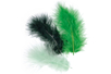 Plumes en camaïeu vert - Set d'environ 50 plumes - Plumes 10446 - 10doigts.fr