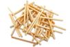 Allumettes naturelles - 1 set (500 pièces) - Bâtonnets, tiges, languettes 14937 - 10doigts.fr