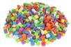 Set de 500 mosaïques en mousseépaisse carrées colorées  - Mosaïques en caoutchouc mousse - 10doigts.fr