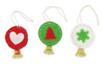 Suspensions boules clochettes en feutrine - Kit de 6 réalisations - Kits et Activités de Noël 38076 - 10doigts.fr