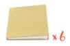 Lot de 6 carnets kraft avec couverture pleine - Albums photos, carnets 16049 - 10doigts.fr