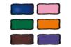 Set de 6 flacons assortis : orange, rose clair, bleu foncé, violet, vert foncé et marron + CADEAU d'un contour noir - Peinture Verre et Faïence 10991 - 10doigts.fr