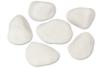 Set de 6 galets en marbre blanc - Galets et coquillages - 10doigts.fr