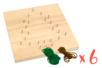 Set de 6 kits String Art Sapin de Noël - String Art 34055 - 10doigts.fr