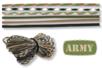 """Paracordes thème """"ARMY"""" - Set de 6 couleurs - Vive l'été ! 16854 - 10doigts.fr"""