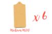 Planchette en MDF 20 x 10 cm - Lot de 6 - Cuisine et vaisselle 01830 - 10doigts.fr