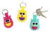 Porte-clés hiboux en feutrine - Set de 6 - Kits Mercerie 38072 - 10doigts.fr