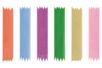 Rubans Organza 2 mètres ( largeur 6 mm) - 6 couleurs - Rubans et ficelles 19257 - 10doigts.fr