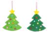 Suspensions sapins en feutrine - Kit de 6 réalisations - Kits activités Noël 38074 - 10doigts.fr