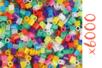 Perles fusibles translucides - 6 sets ( soit 6000 perles ) - Perles à repasser 16157 - 10doigts.fr